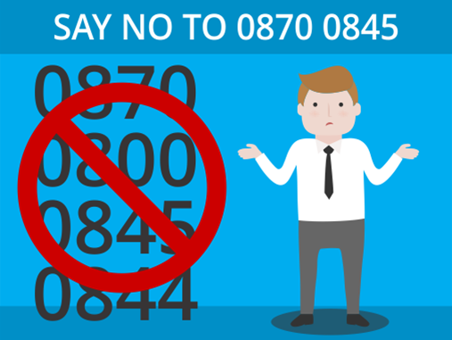 Say No to 0870 0845