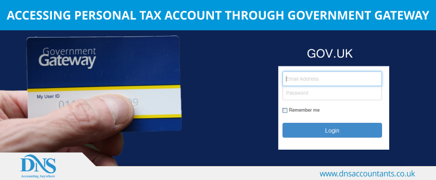 Accessing Personal Tax Account through Government Gateway