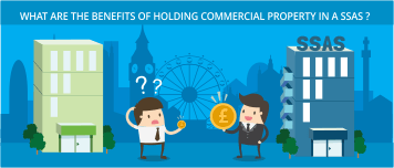 What are the benefits of holding commercial property in a SSAS?