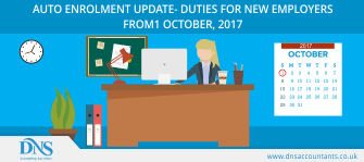 AUTO ENROLMENT UPDATE- DUTIES FOR NEW EMPLOYERS FROM 1 OCTOBER, 2017