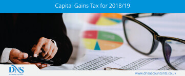 Capital Gains Tax for 2018/19