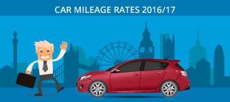 Car mileage rates 2016/17