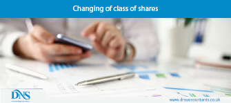 Changing of class of shares