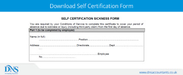 Download NHS Self Certification Form