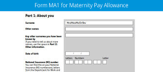 Download Maternity Pay Allowance MA1 Claim Form