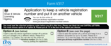 Download Form V317 for Retaining Vehicle Registration Number