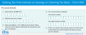 Getting Tax-Free Interest on Savings or Claiming Tax Back – Form R40