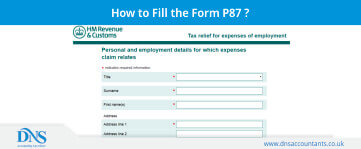 Download Form p87 for claiming Uniform Tax Rebate