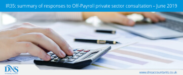 IR35: Summary of Responses to Off-Payroll Private Sector Consultation – June 2019
