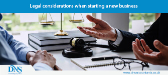 Legal considerations when starting a new business