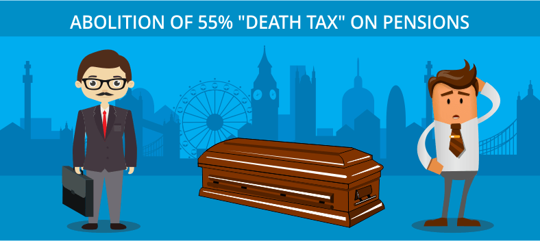 Death tax on pensions