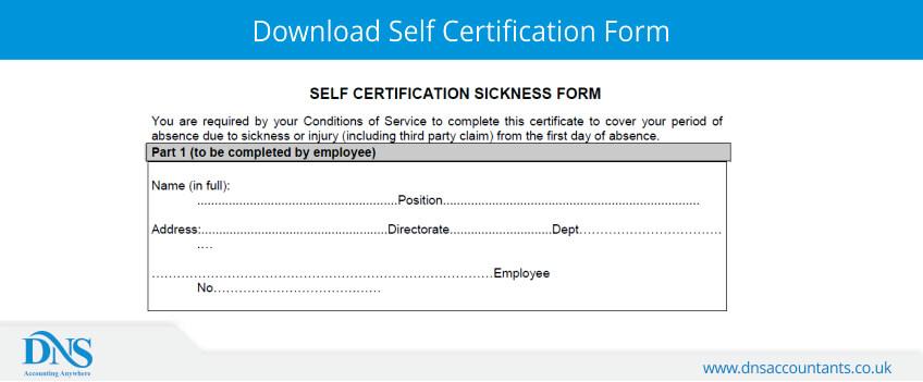 download nhs self certification form
