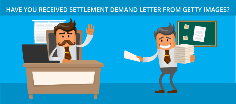 Settlement demand letter from getty images
