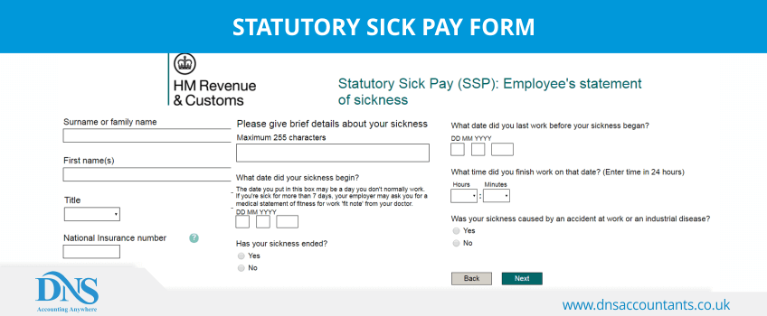 statutory sick pay form  u2013 download form for employers  u0026 employees