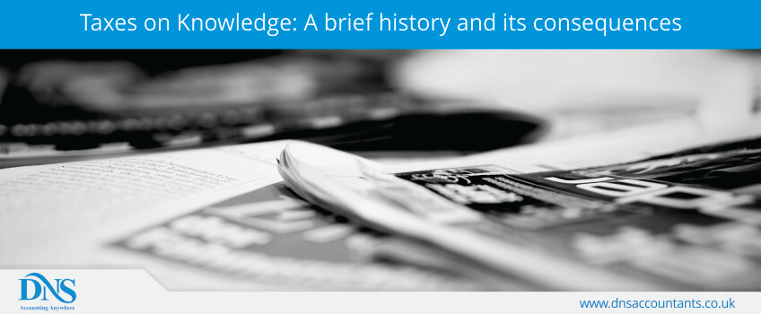 taxes on knowledge  a brief history and its consequences