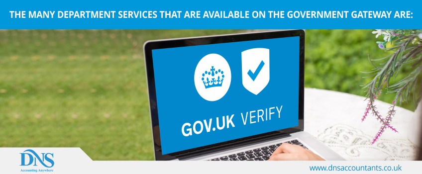 The many department services that are available on the Government Gateway are