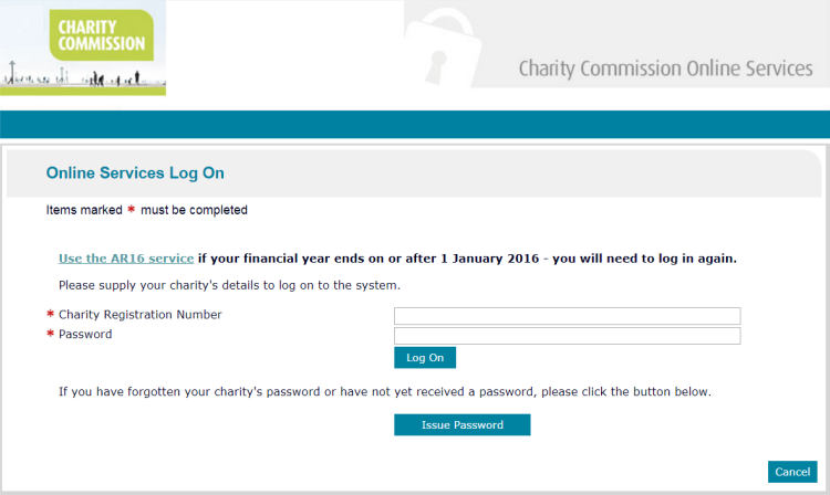 Charity Comission Website Login