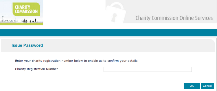 Charity Comission Login Password Recovery