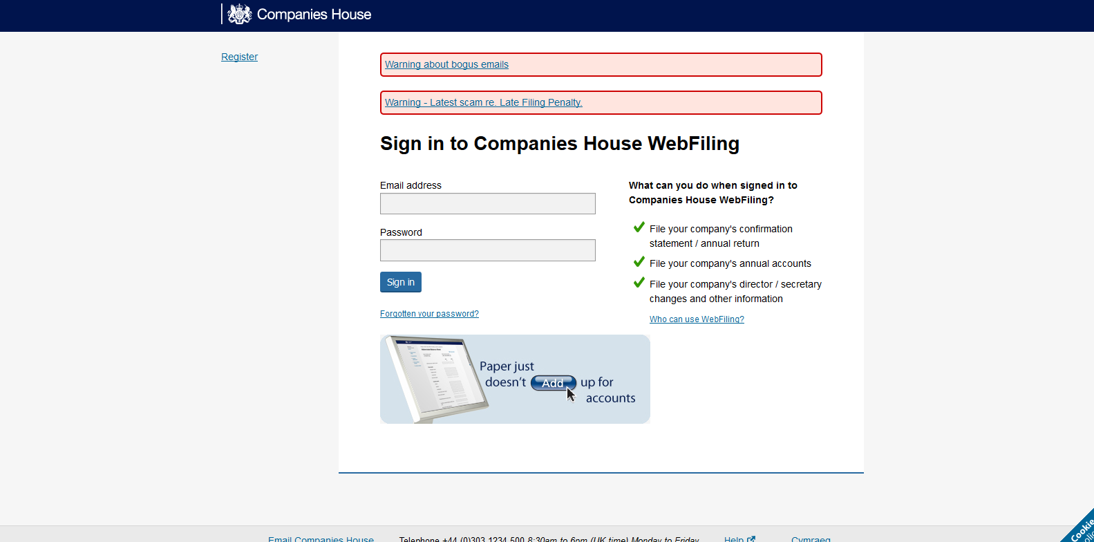 Companies house beta hmrc companies house late filing for Companies housse