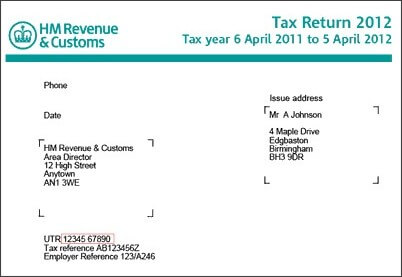What is a utr number what to do if i have lost my utr number dns hmrc tax return spiritdancerdesigns Images