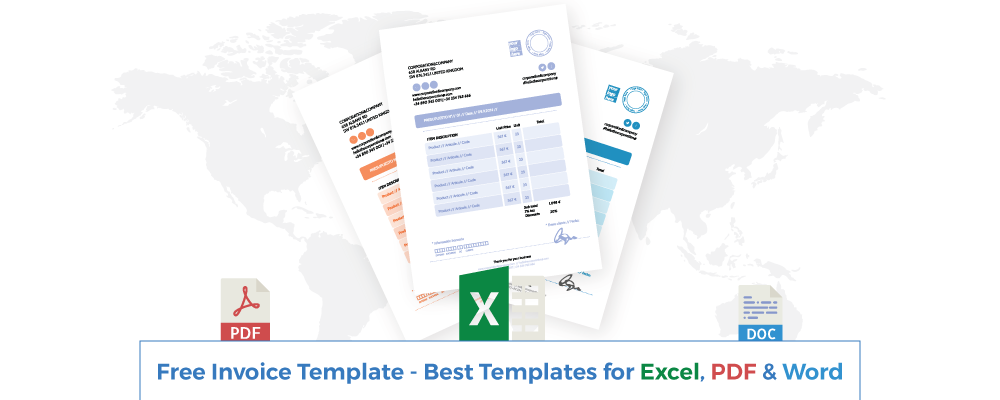 free invoice template best templates for excel pdf word - Free Invoice