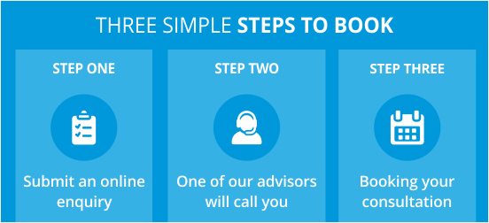 Three Simple Steps to Book