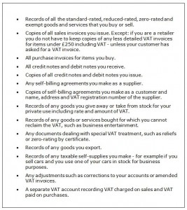 Record Keeping - VAT